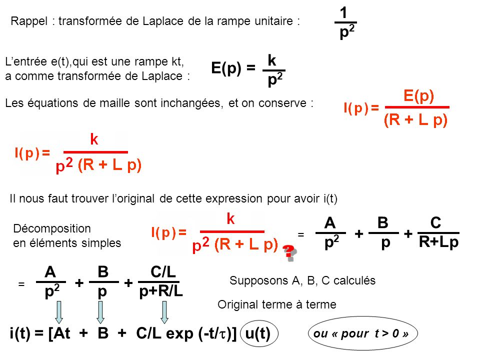 i(t) = [At + B + C/L exp (-t/)] u(t)